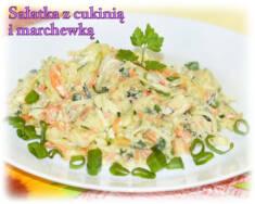 Sałatka obiadowa z cukinii – Kulinarne S.O.S.