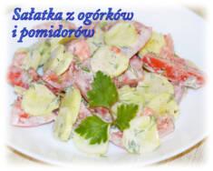 Sałatka z ogórków i pomidorów – Kulinarne S.O.S.