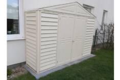 Wyjątkowy domek plastikowy przeznaczony dla tych, którzy muszą oszczędzać powierzchnię. Domek mo ...