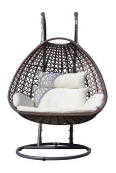 Elegancki fotel wiszący, czyli kokon, pomieści dwie osoby i zapewni komfortowe warunki do wypocz ...