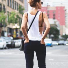 Biało czarna stylizacja idealna na lato