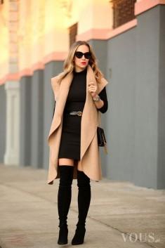 black & beige
