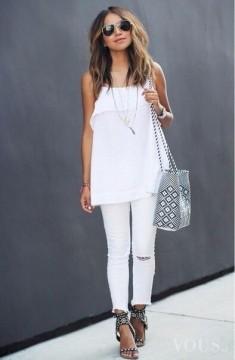 Biała stylizacja idealna na lato