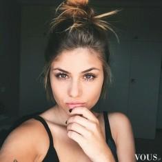 Bardzo naturalny makijaż