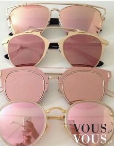 Dior różowe lustra okulary gwiazd rihana, rihanna siwiec , CHRISTIAN DIOR oprawki okulary RÓŻOWE ...