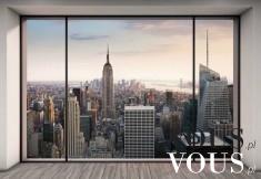 Panorama miasta za oknem