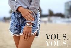 Dżinsowe szorty to najlepsze rozwiązanie na lato, szczególnie gdy są w ciekawy wzór, szorty z fr ...