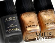 Lakiery do paznokci od Chanel : Czarny, złoty i z brokatem