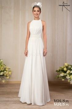prosta i klasyczna suknia ślubna
