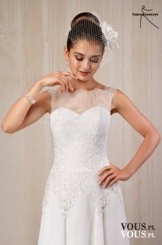 suknia ślubna z koronką, skromna suknia