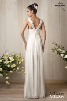 prosta klasyczna suknia ślubna