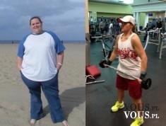 Efekty po ćwiczeniach, jak szybko schudnąć, motywacja do ćwiczeń, schudła 70 kg! metamorfoza