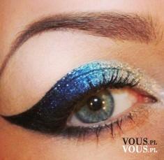 Brokatowy make up oczu, makijaż oczu na imprezę