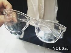 okulary przeciwsłoneczne, modne okulary, przeźroczyte oprawki