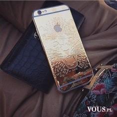 złoty iPhone z lwem