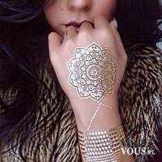 """srebrny rysunek na ręce, jak zrobić taki """"tatuaż""""?"""