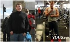 Niesamowita metamorfoza, schudł mnóstwo kilogramów, jak szybko schudnąć, efekty ćwiczeń i diety
