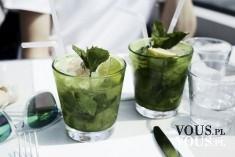 zielony drink z miętą