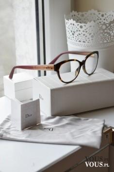 Oprawki do okularów DIOR. Stylowe okulary.