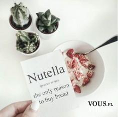 nutella, zdrowe śniadanie, owsianka, czy lubicie nutelle?