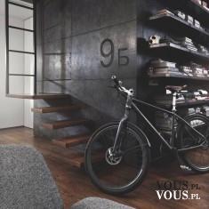 stylowe wnętrze, oryginalny rower