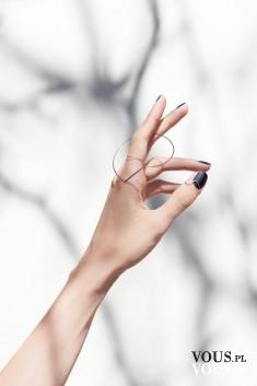 czarne paznokcie, czarny manicure
