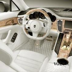 białe wnętrze samochodu