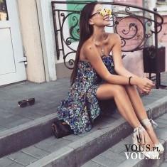 zwiewna sukienka, sukienka na lato, sukienka w kwiaty