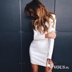 biała elegancka sukienka