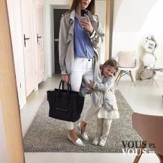 Stylowa mama i córka. Stylizacje dzieci.