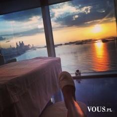 Zachód słońca, relaks z pięknym widokiem