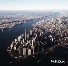 Widok na miasto, widok z góry, ogromna metropolia