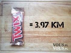 Co muszę zrobić by spalić kalorie z Twixa? Spalenie Twixa to 3,97 km chodzenia.