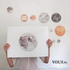 Kolekcja planet, rysunki planet na ścianie, piękne malowanie planet, talent rysunkowy. Gdzie moż ...