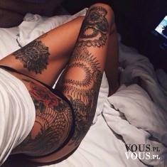 Dziewczyna z tatuażami, tattoo girl, czy pasują dziewczynie duże tatuaże?