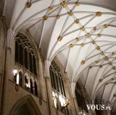Przepiękny sufit w katedrze. biały ze złotymi zdobieniami
