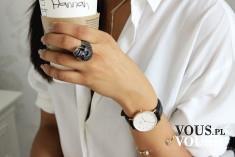 stylizacja biała koszula i zegarek daniel wellington. Gdzie kupić tanio zegarek Wellingtona?