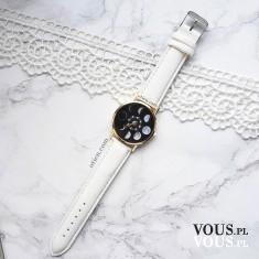 Zegarek księżyc damski biały w sklepie OTIEN. Tani biały zegarek na prezent. Zegarki do 100zł