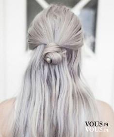 siwe jasne fioletowe włosy