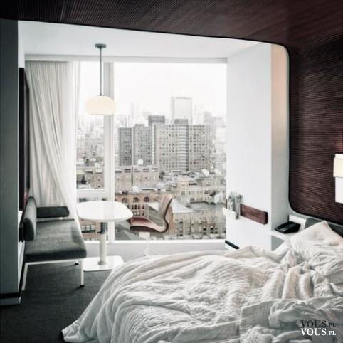 Piękny poranny widok z okna