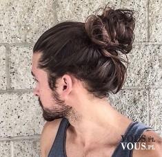 Mężczyzna, profil, przystojny mężczyzna z długimi włosami i zarostem http://otianna.pl/najlepsze ...