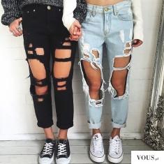 f a s h i o n ♡ czy spodnie z dziurami są ładne?