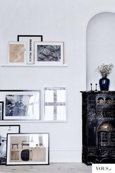 jak ułożyć dużą ilość obrazów na jednej ścianie?