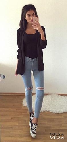 Piękna stylizacja i świetne nogi.