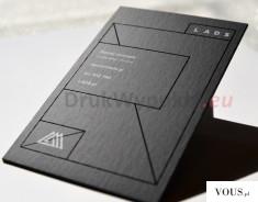 Kaszerowane wizytówki na czarnym papierze – Ekskluzywne Wizytówki