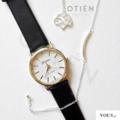 Zegarek i minimalistyczna biżuteria w kolorze srebrnym w OTIEN
