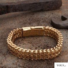 złota bransoleta, grube złoto