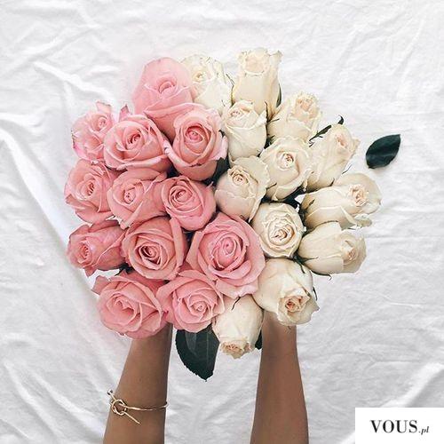 różowo żółte róże