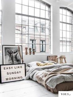 sypialnia w mieszkaniu typu studio/loft
