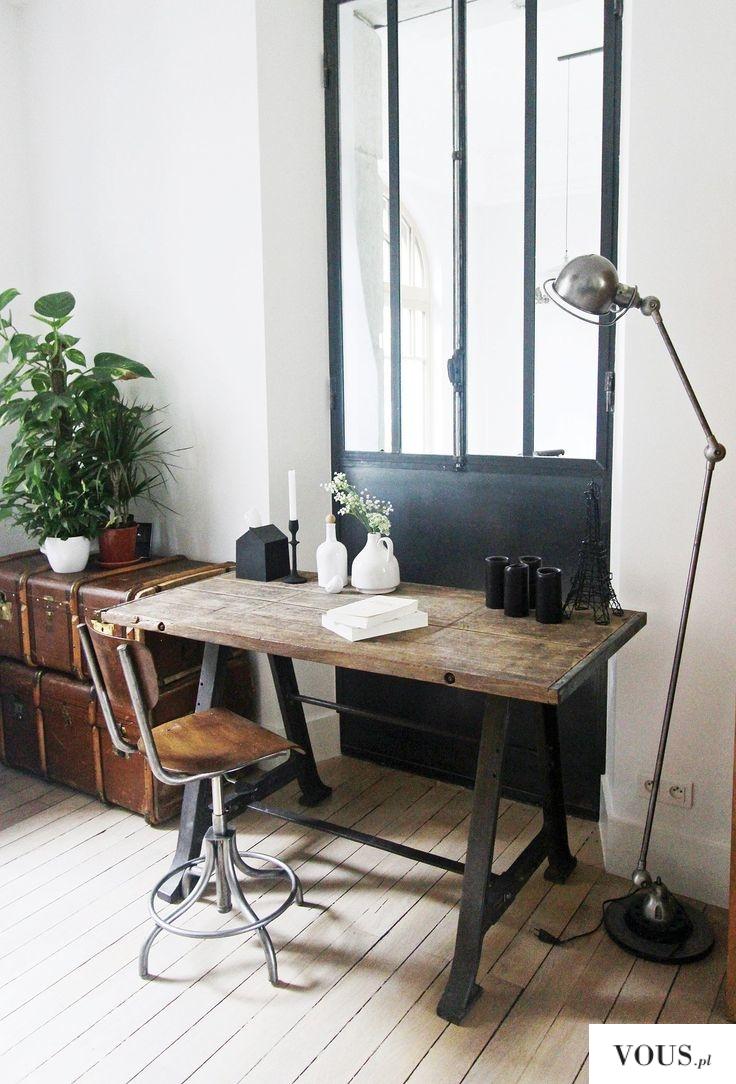 Masywnie stary drewniany stół do biura ⋆ VOUS.pl NG42